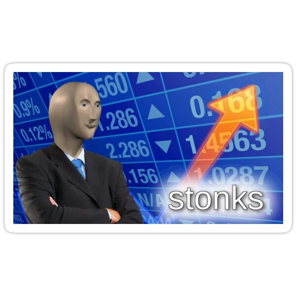 Stonks Sticker Funny Memes Funny Pictures Funny