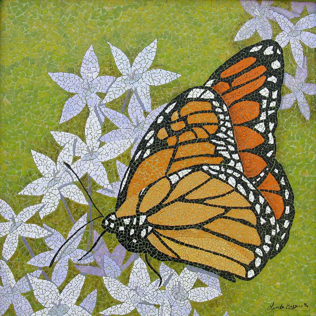 Monarch by eggshelllady, via Flickr Butterfly Mosaic
