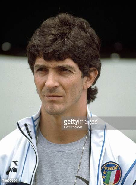 circa 1984 Paolo Rossi Italy striker who was a World Cup winner with Italy in 1982 and won 48 international caps for his country