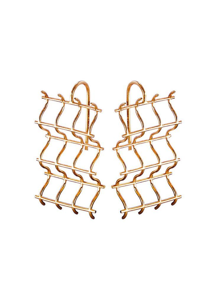 Criss Cross Hook Earrings by SMITH/GREY