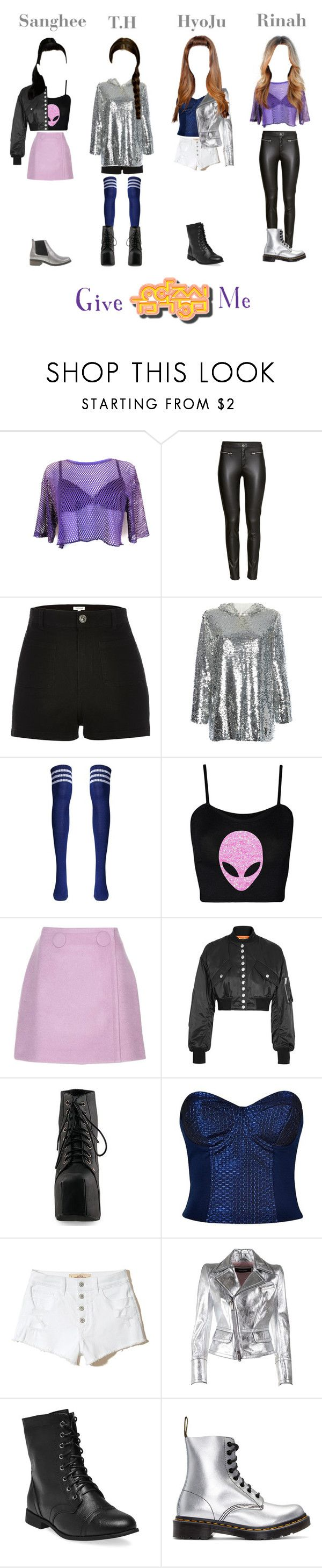 """""""[HOT] T.O.P - Give Me Show Music Core"""" by topofficial ❤ liked on Polyvore featuring H&M, River Island, MSGM, STELLA McCARTNEY, Alexander Wang, Jeffrey Campbell, Hollister Co., Dsquared2, Wet Seal and Dr. Martens"""