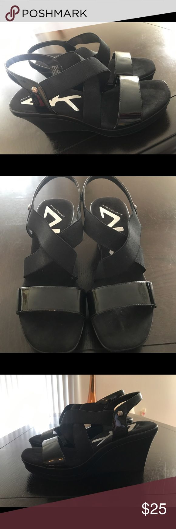 Anne Klein Sport Sandal Wedges size 7.5 Anne Klein sport Sandal Wedges size 7.5. Used but  in great condition. A small blemish can be seen on pictures, not noticeable Anne Klein Shoes Wedges