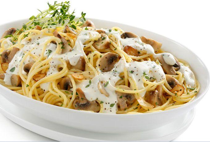 Pasta con salsa de hongos y tomillo - Recetas de pastas - Comida - Recetas - Philadelphia