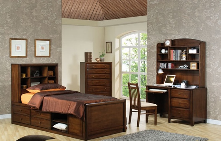 SCOTTSDALE STORAGE SINGLE BED - WALNUT