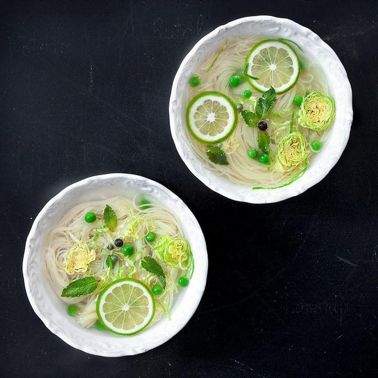 Wintergreen Soup, via three little halves. Beautiful presentation.