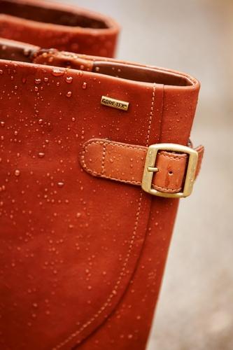 Elegante nussbraune GORE-TEX® Damenstiefel aus exklusivem Leder, Mara Sand GTX.