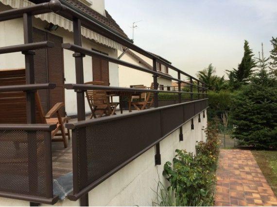 Garde corps aluminium pour terrasse