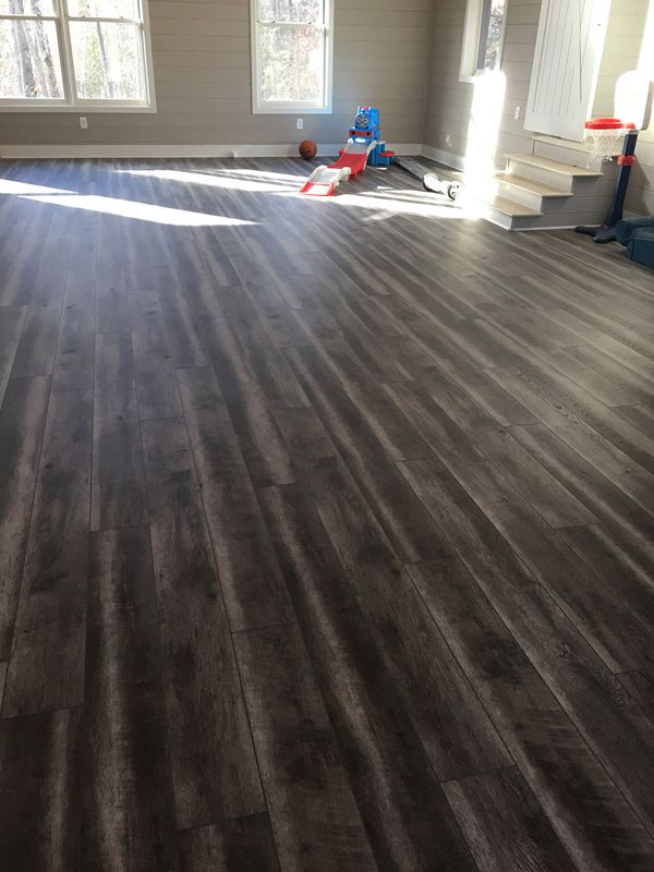 Coretec Plus Hd In Odessa Gray Driftwood Residential Flooring