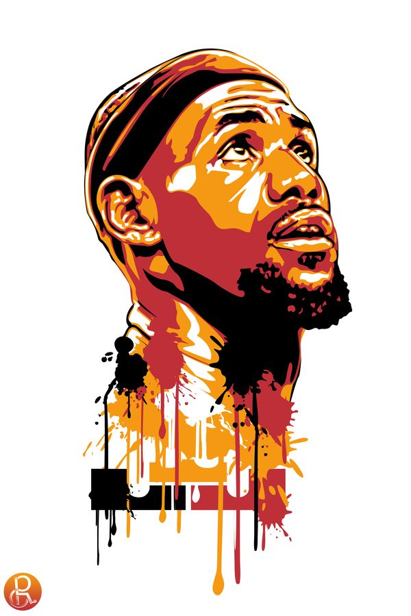 LBJSports Art, Lebron Art, Nba Art, Lebron James, Nba Stuff, King James, Sports Ideas, Basketball Art, Miami Heat