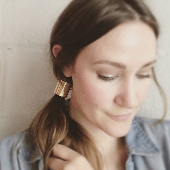 Ponytail Cuff. Brass. Gold Brass. Simple Hair by MissCAlexandria