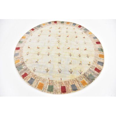 "Bloomsbury Market Rolling Hills Estates Cream Southwestern Area Rug Rug Size: Square 5'5"" x 5'5"""
