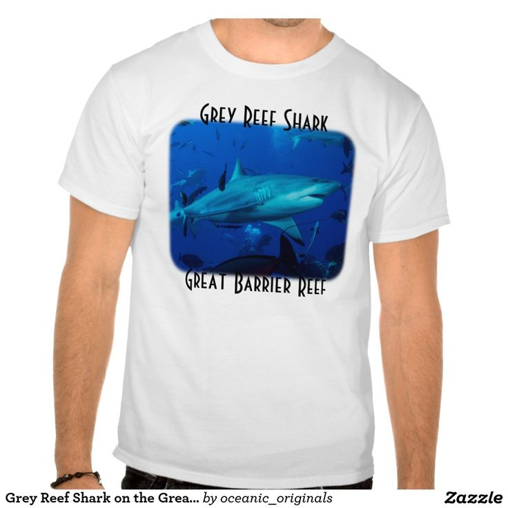 Men's T Shirt featuring a Grey Reef Shark cruising around after a shark feed at Osprey Reef about 200km off the coast of Australia.