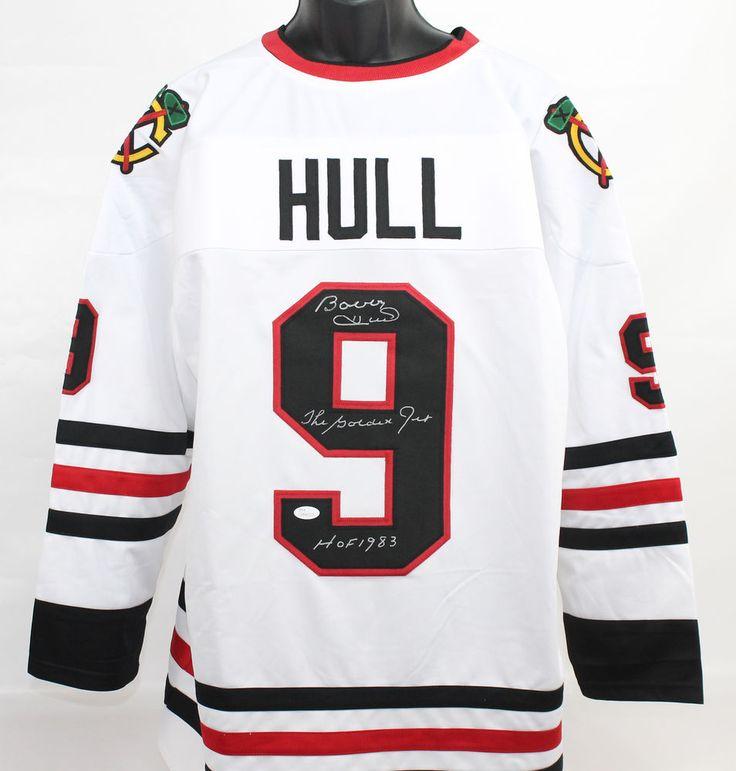 Bobby Hull Autographed Chicago Blackhawks Jersey w/Inscr JSA COA