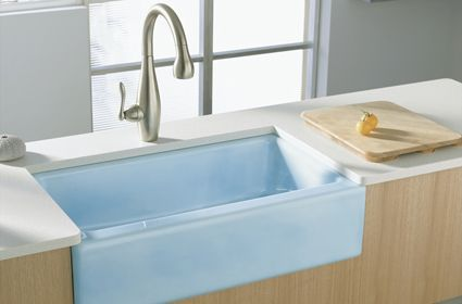Blue Farm Sink Blue Bath Designs Pinterest Colors, Farm sink and ...