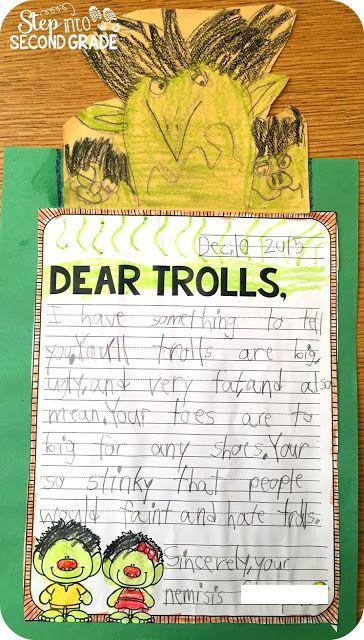 Jan Brett study- letter to the trolls