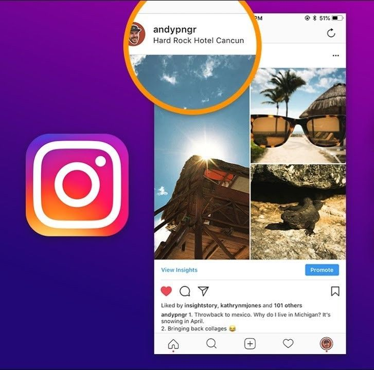 How To Insert Location In Instagram Posts Instagram Posts Instagram Photo Maps