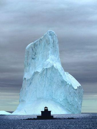 Iceberg, Witless Bay, Newfoundland, Canada. By: Barrett & Mackay