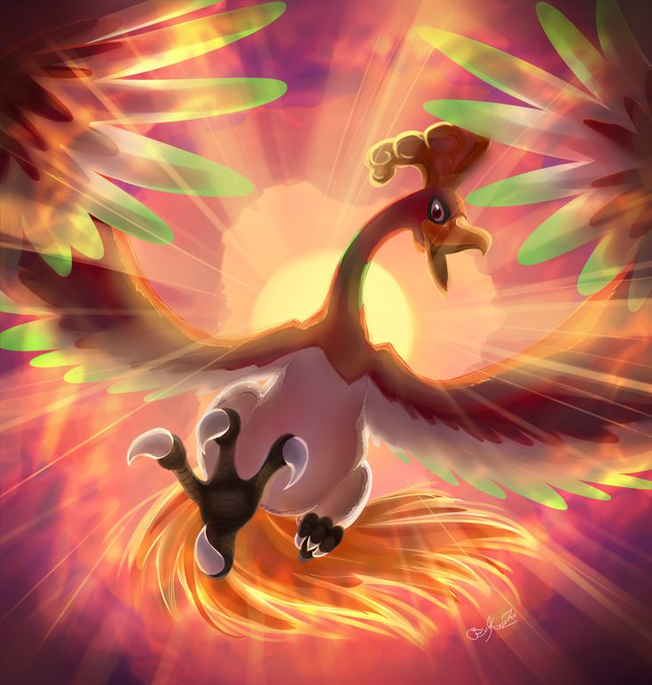 Ho-oh - Lord of the Sky - by EvilQueenie.deviantart.com on @deviantART