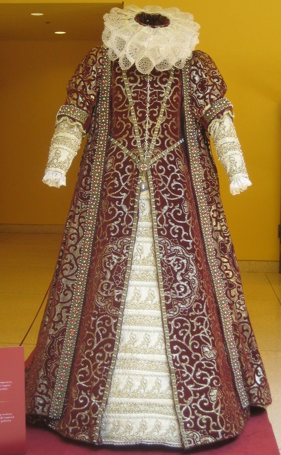 Authentic antique tudor costume