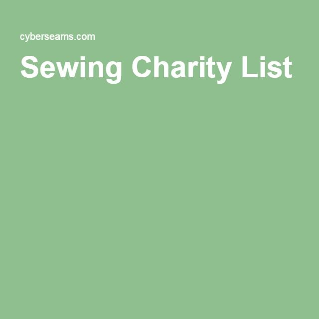 Sewing Charity List