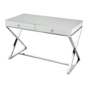 Dillon White Lacquer Desk Eurostyle Writing Desks Home Office Furniture