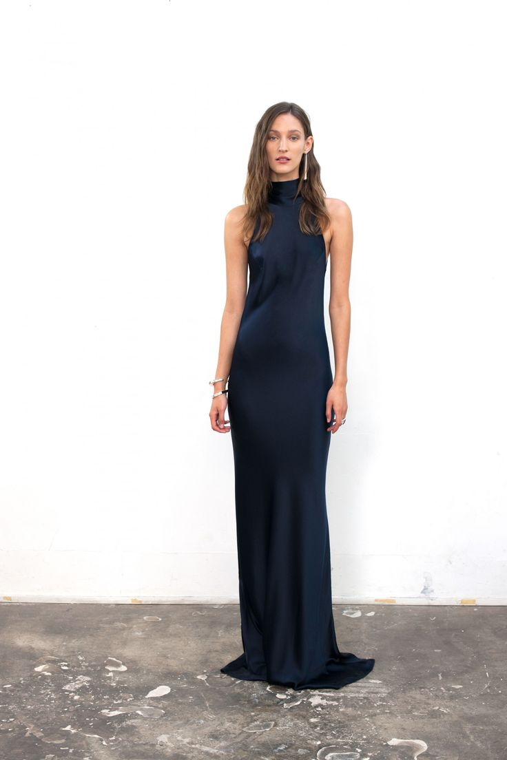 Tie Neck Slip Dress - Home Page Products