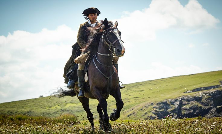 Aidan Turner as Ross Poldark in Poldark on BBC One (UK) and PBS Masterpiece (US).