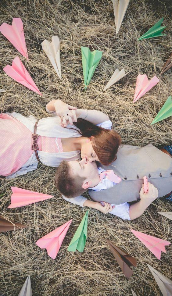 avion origami mariage
