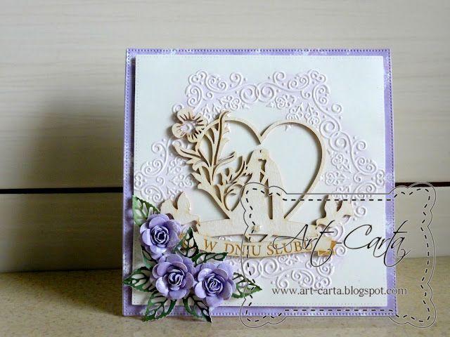 Art-Carta : Ślub z liliowym akcentem