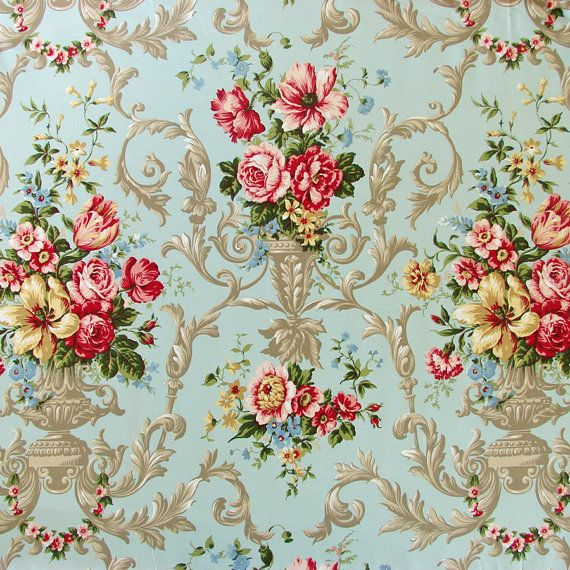This listing is for one shabby chic vintage style rococo meter of fabric. Rococo or baroque style, t-wallpaper-wpz07528 - wallpapermad.com