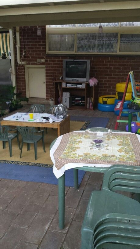 Kids play area. Minons need finishing. Young Seth just finished playing and painting..In the evenings can watch a movie.