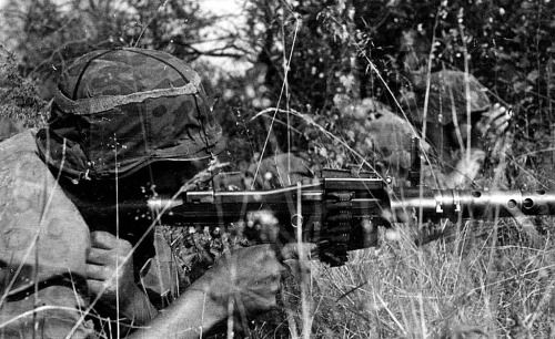 Totenkopf troops in action during Operation Barbarossa in 1941.