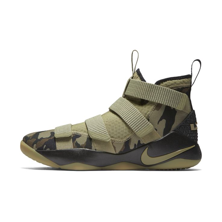 Nike LeBron Soldier XI Basketball Shoe Size 11.5 (Olive)
