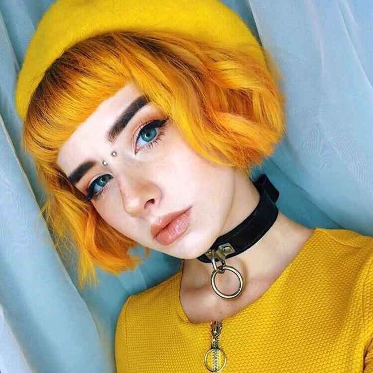 yellow hair
