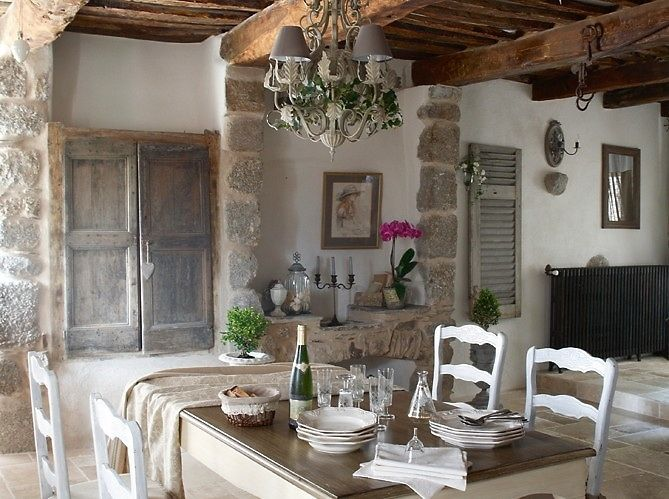 DiningCottages Style, Dining Room, French Farmhouse, French House, French Country, French Cottages, French Home, English Home, French Style