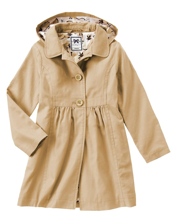 Hooded Trench Coat at Gymboree