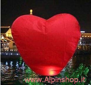 Lanterna Volante CUORE ROSSO  Love Sky lantern