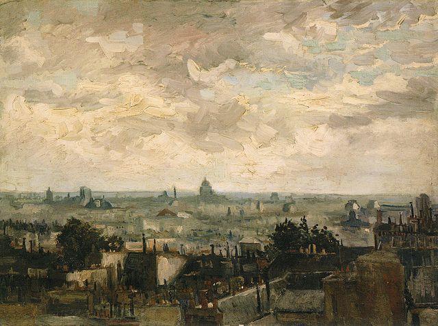 Vincent van Gogh - View of Paris at Van Gogh Museum Amsterdam