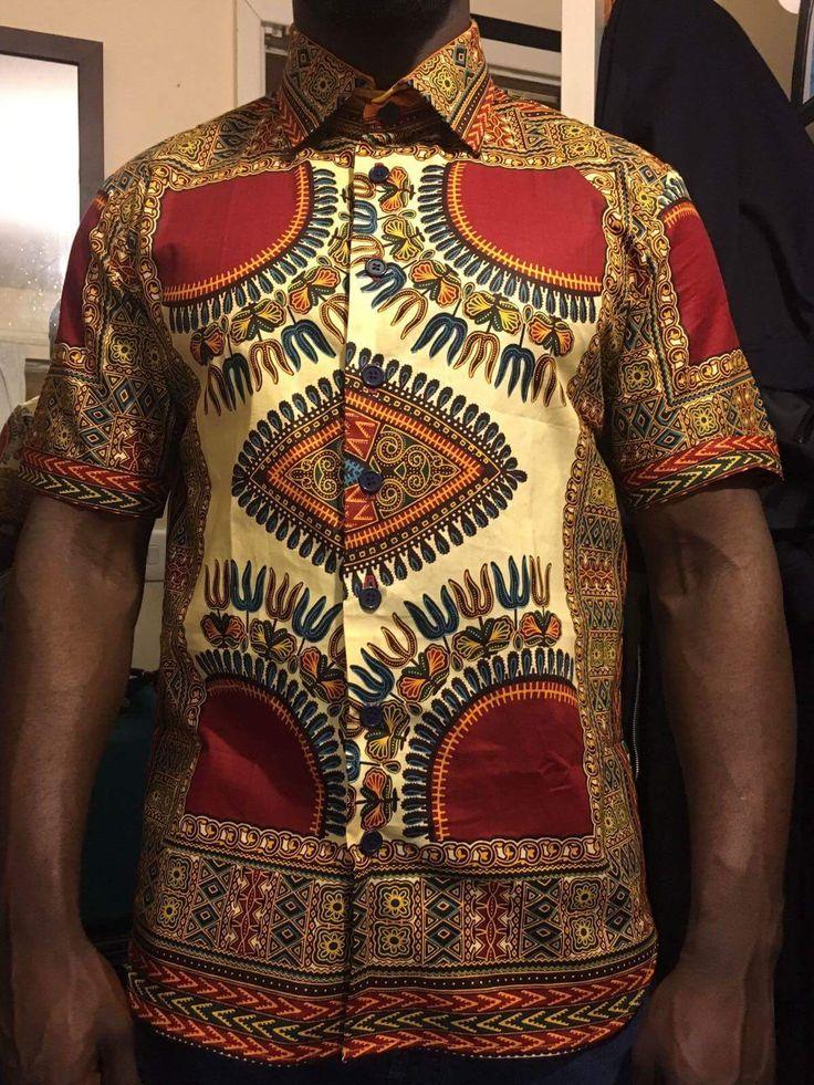 Just in: Red African Print Men's Shirt, Men's African Clothing, Short Sleeve Dashiki Shirt, African Shirt, Teen African Top, Ankara Dashiki Shirt. https://www.etsy.com/listing/517091588/red-african-print-mens-shirt-mens?utm_campaign=crowdfire&utm_content=crowdfire&utm_medium=social&utm_source=pinterest