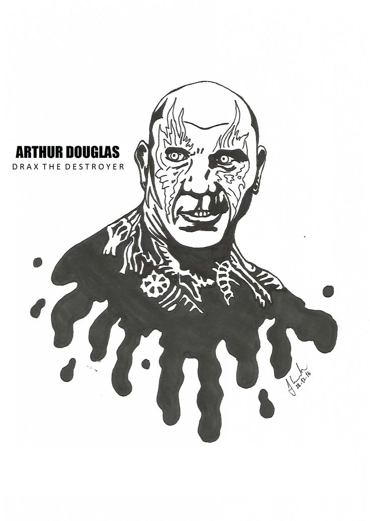 #arthur #douglas #drax #the #destroyer #draxthedestroyer #dave #bautista #batista #drawing #blackandwhite #marvel #guardians #of #the #galaxy #guardiansofthegalaxy
