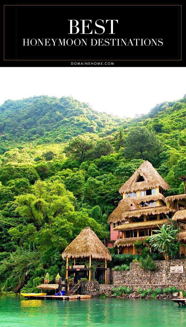 Seven alternative post-wedding vacation spots that go beyond Paris, Tuscany, and Hawaii. Pictured: Lake Atitlán, Guatemala. #Honeymoon