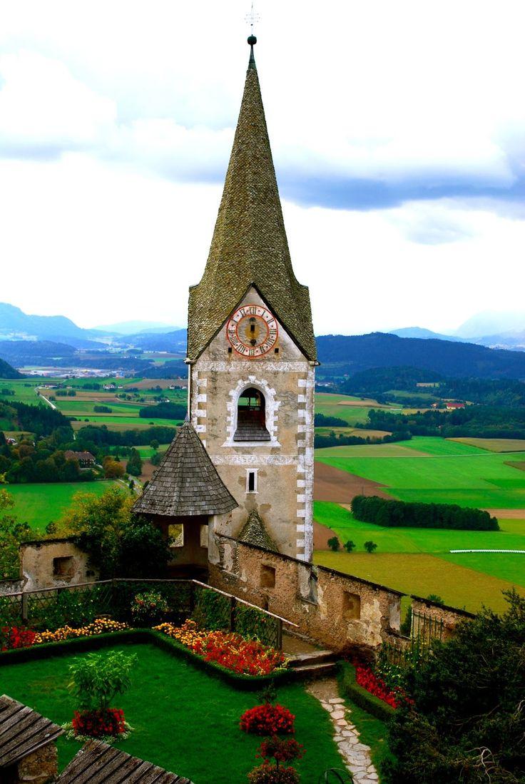View from Burg Hochosterwitz near Klagenfurt - Carinthia, Austria