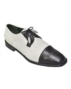 98a20668ee High quality Los altos white black belly shoes for men made by genuine alligator  skin.