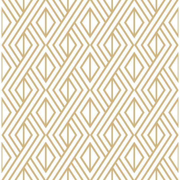 Espino Diamond Geometric 216 L X 20 5 W Peel And Stick Wallpaper Roll Geometric Wallpaper Peel Stick Peel Stick Wallpaper Gold Removable Wallpaper