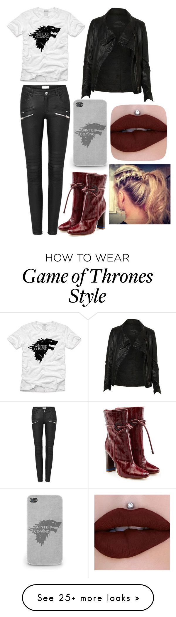"""""""Untitled #543"""" by vesta135 on Polyvore featuring AllSaints and Malone Souliers"""