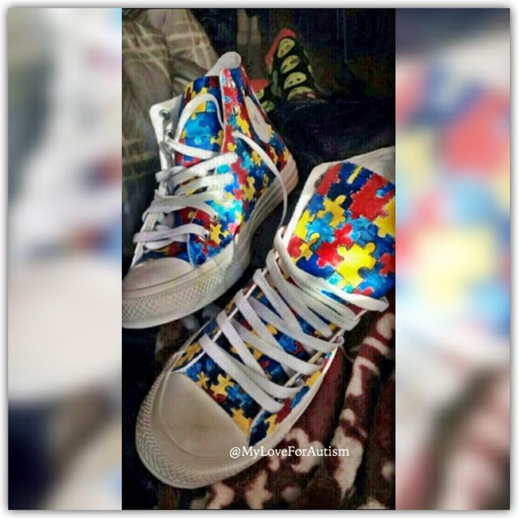 Autism Awareness Converse Shoes