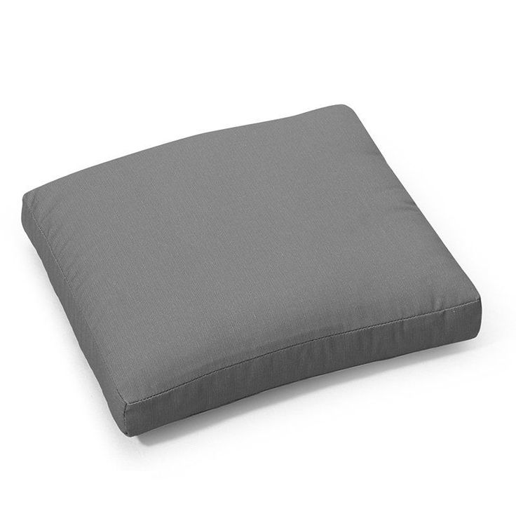 Coral Coast Classic 17 X 17 In. Outdoor Seat Pad Timeless Gray   9053PK1
