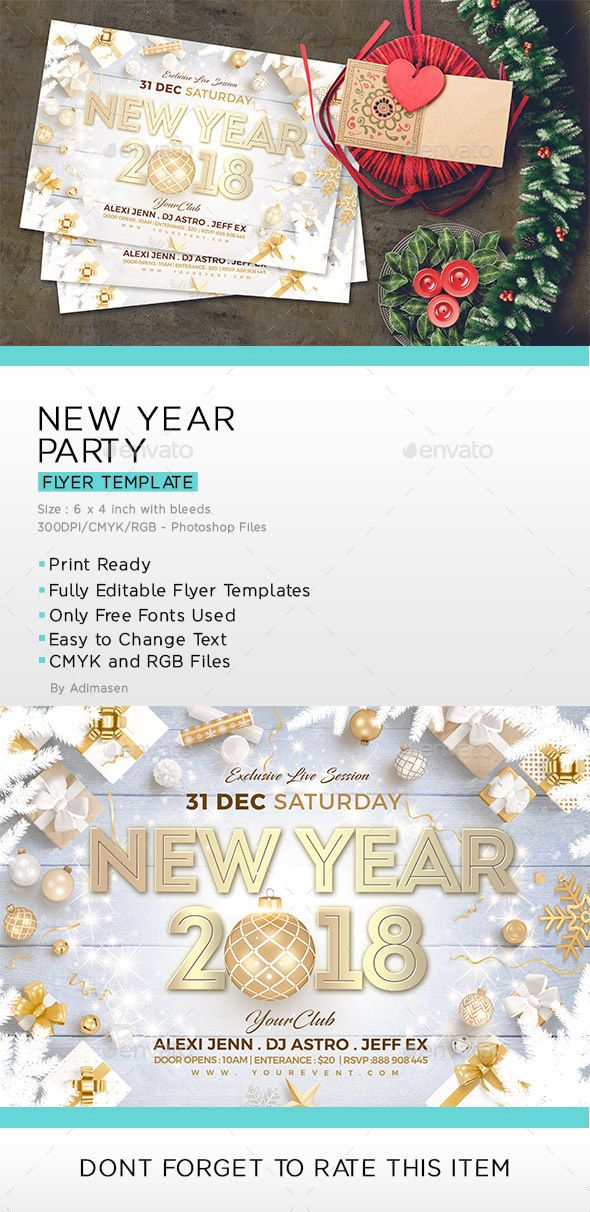 #New Year #Flyer - Clubs & Parties #Events