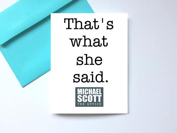 234 best my art images on pinterest amber ivy and art prints thats what she said card the office birthday card bookmarktalkfo Images