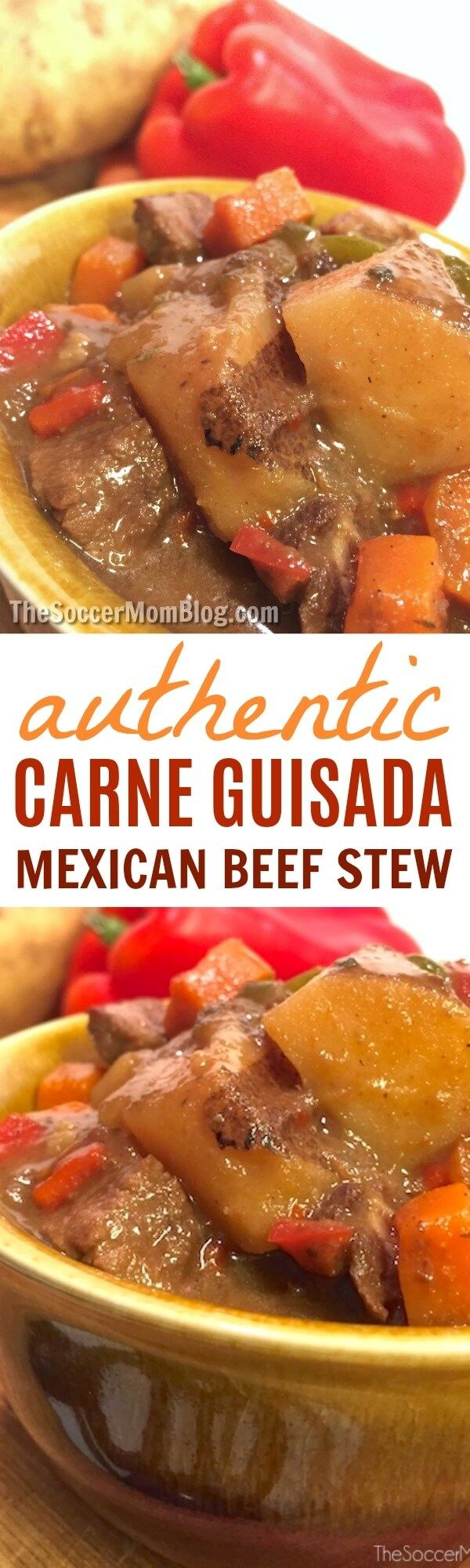 The ultimate comfort food - literally anyone who tries this carne guisada recipe falls in love! An easy, authentic Mexican food classic (can make in crockpot too!) #Mexicanfood #soup #stew